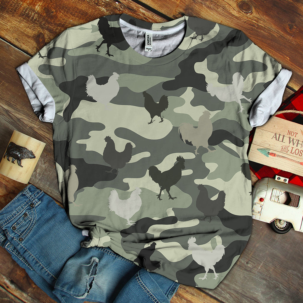 Chicken 3D Camo Unisex Shirt