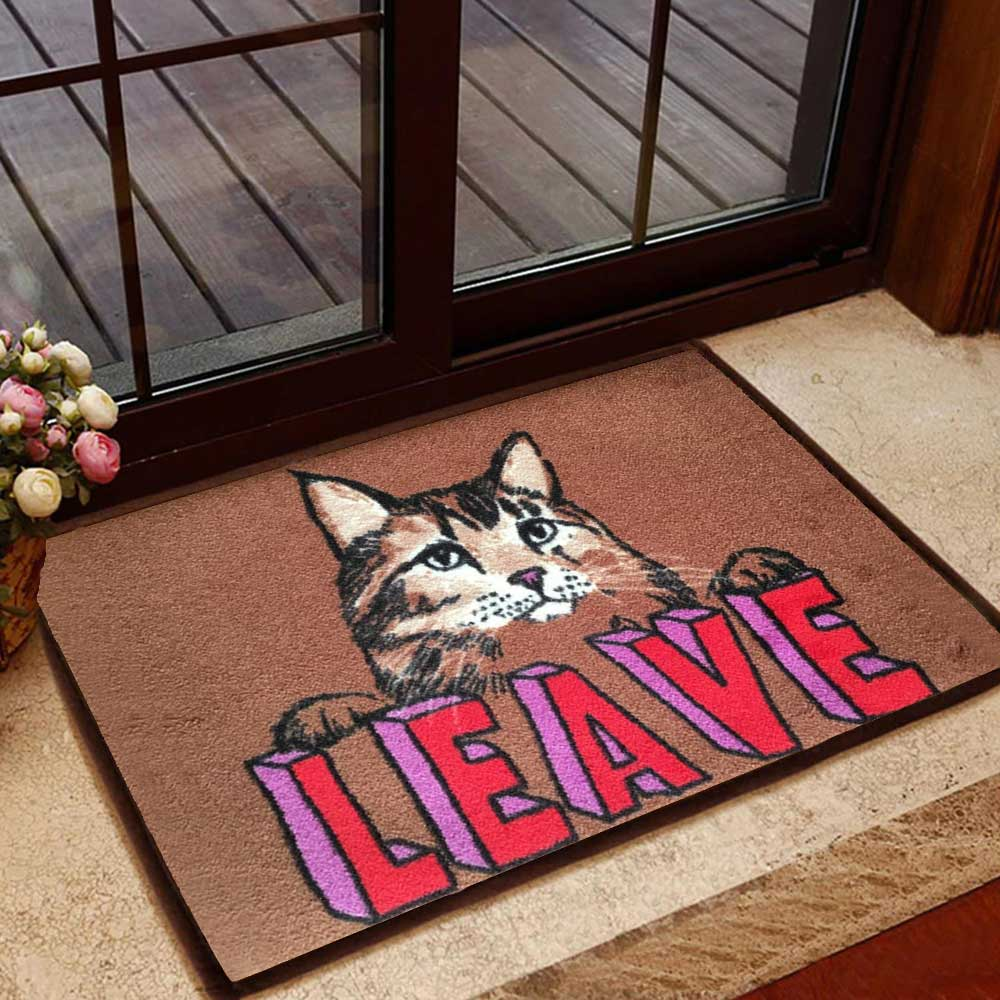LEAVE Cat Doormat