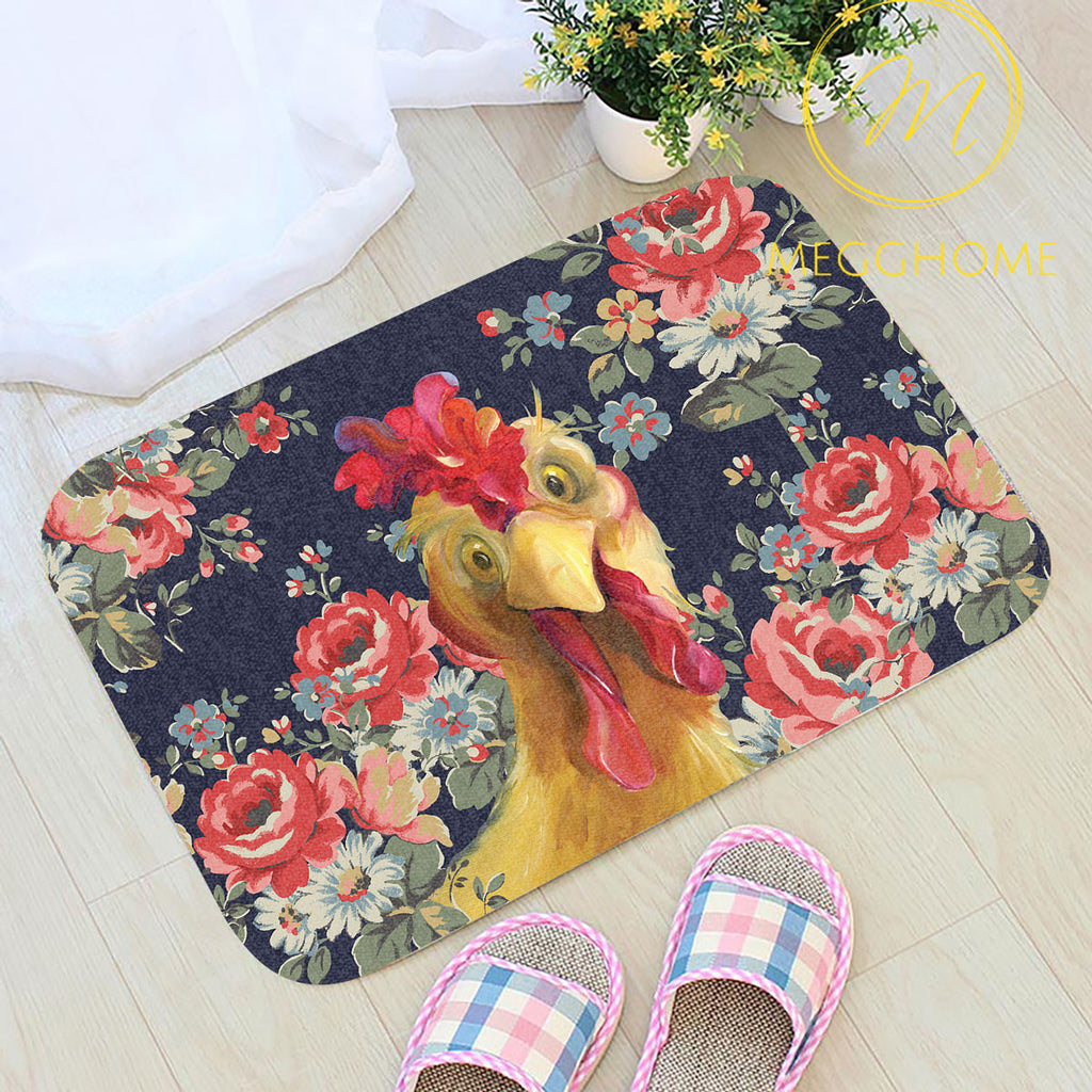 Chickens Dance in the Moonlight Doormat 2