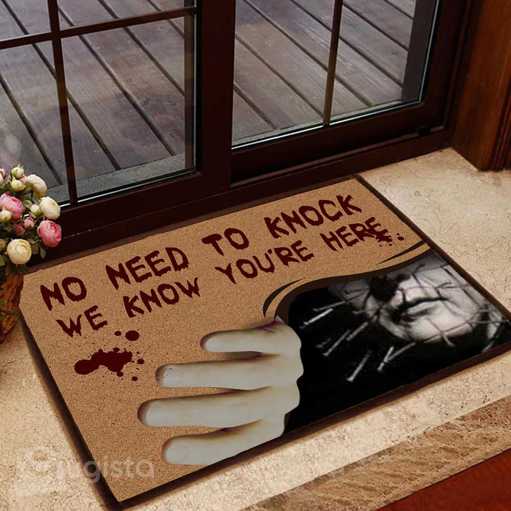 No Need To Knock Horror Movie Character Doormat 06