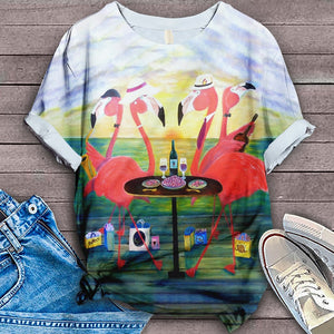 FLAMINGO ALL OVER PRINT T-SHIRT 16