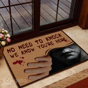 No Need To Knock Horror Movie Character Doormat 05