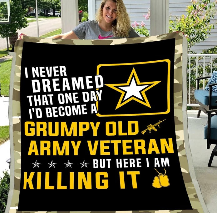 Army Veteran - Veteran Blanket, Army, Us Veteran, Quotes Blanket ATM-AMBL4
