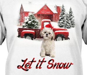 Let It Snow - Shih Tzu Hooded
