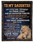 To My Daughter Blanket 12