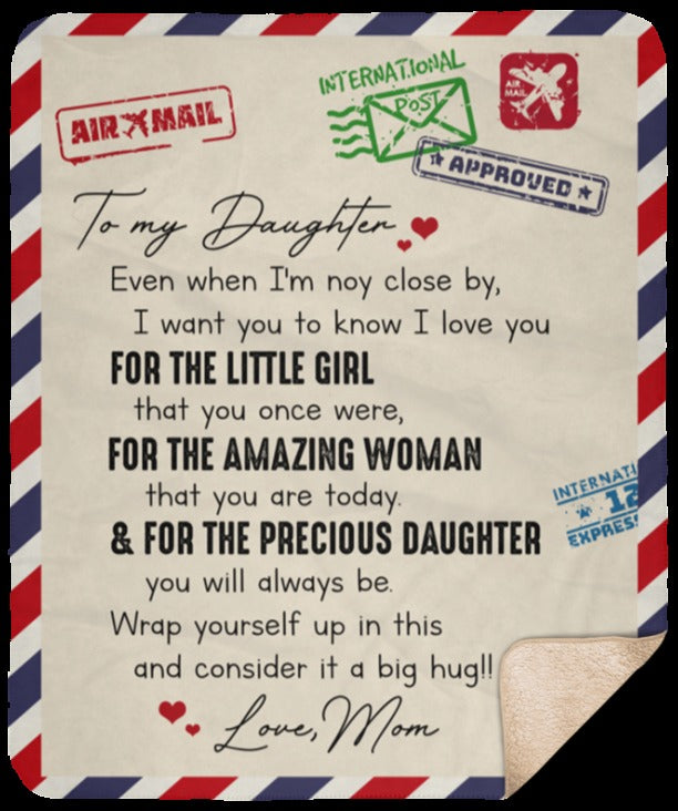 To My Daughter Blanket 3
