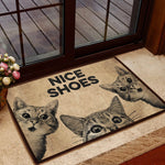 CAT- NICE SHOES ALL OVER PRINTING DOORMAT