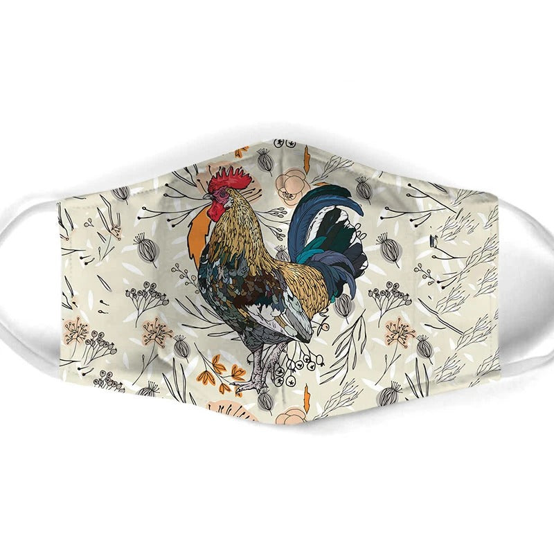 Chicken Rooster Face Mask 3