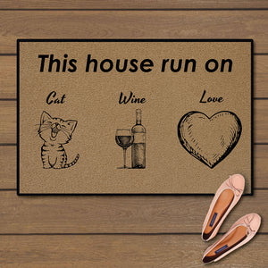 This house run on cat, wine and love