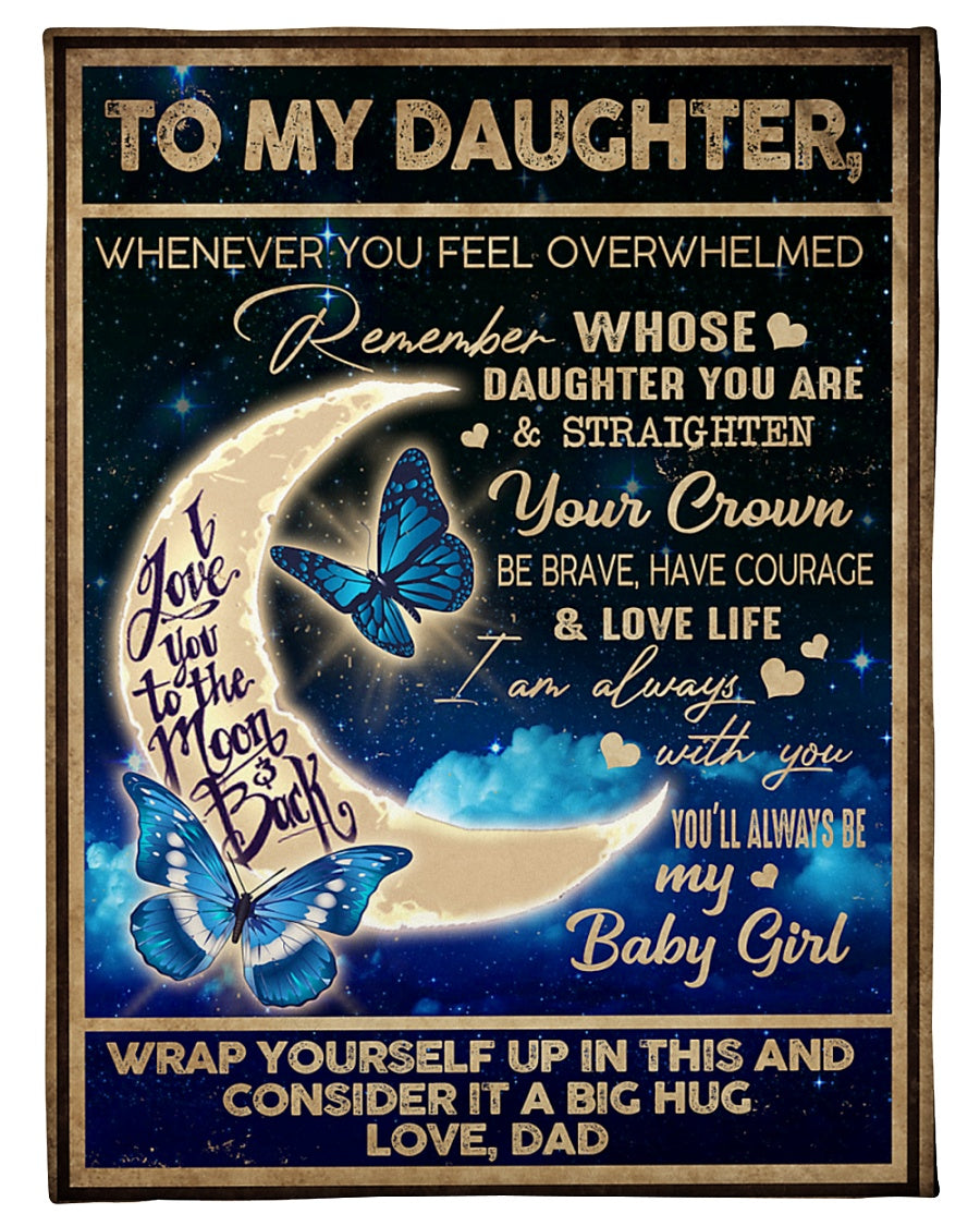To My Daughter Blanket 14