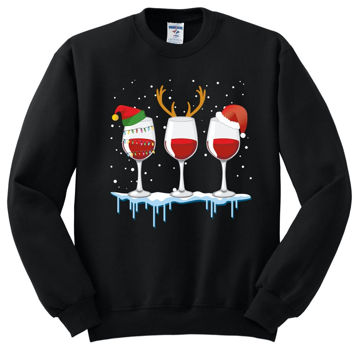 Merry Christmas Wine Sweatshirt 2