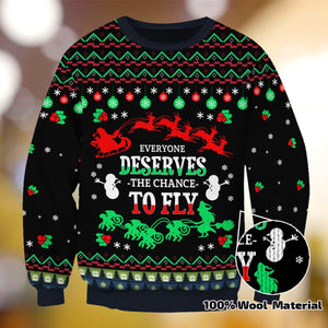 EVERYONE DESERVES THE CHANGE TO FLY XC01 SWEATER