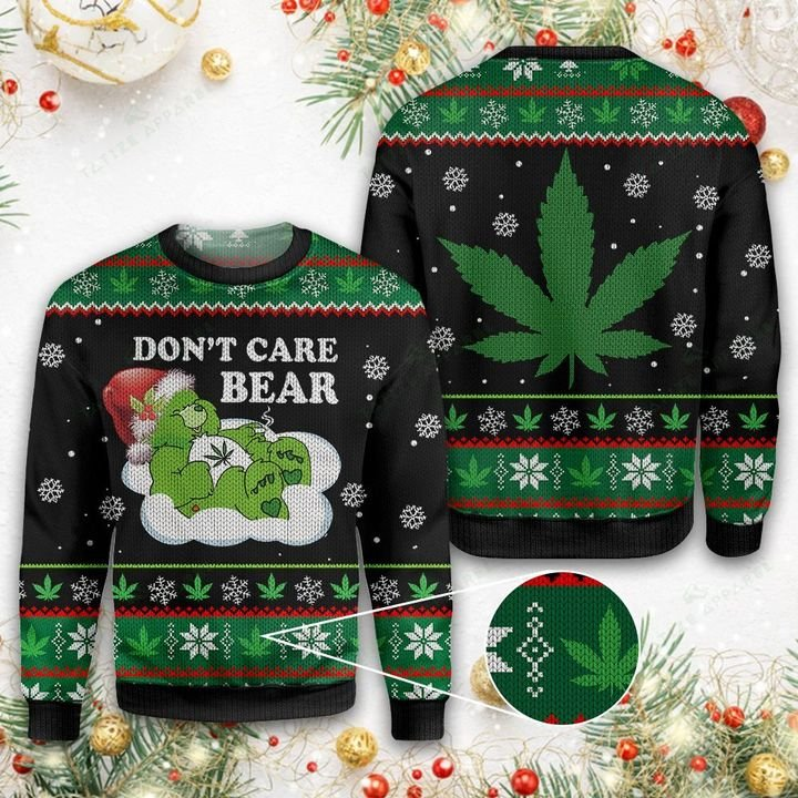 CHRISTMAS WEED DONT CARE BEAR