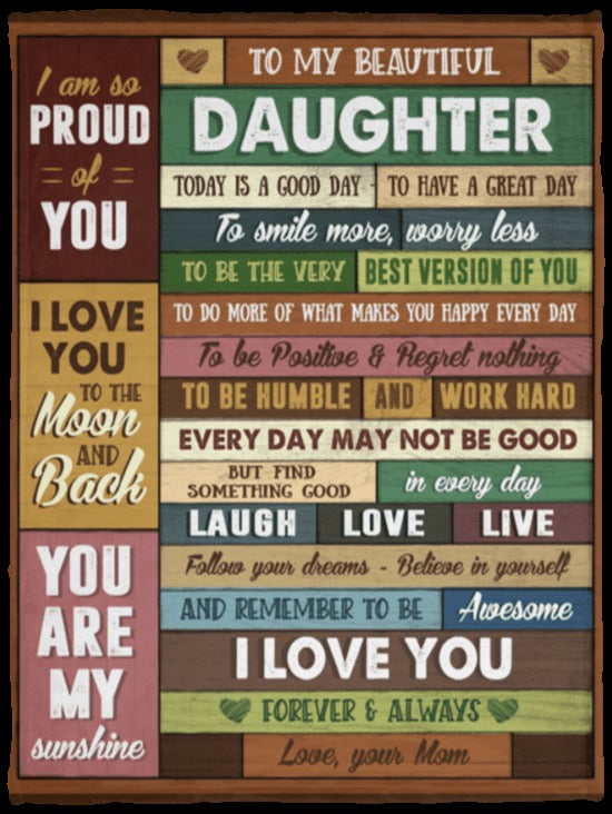 To My Daughter Blanket 4