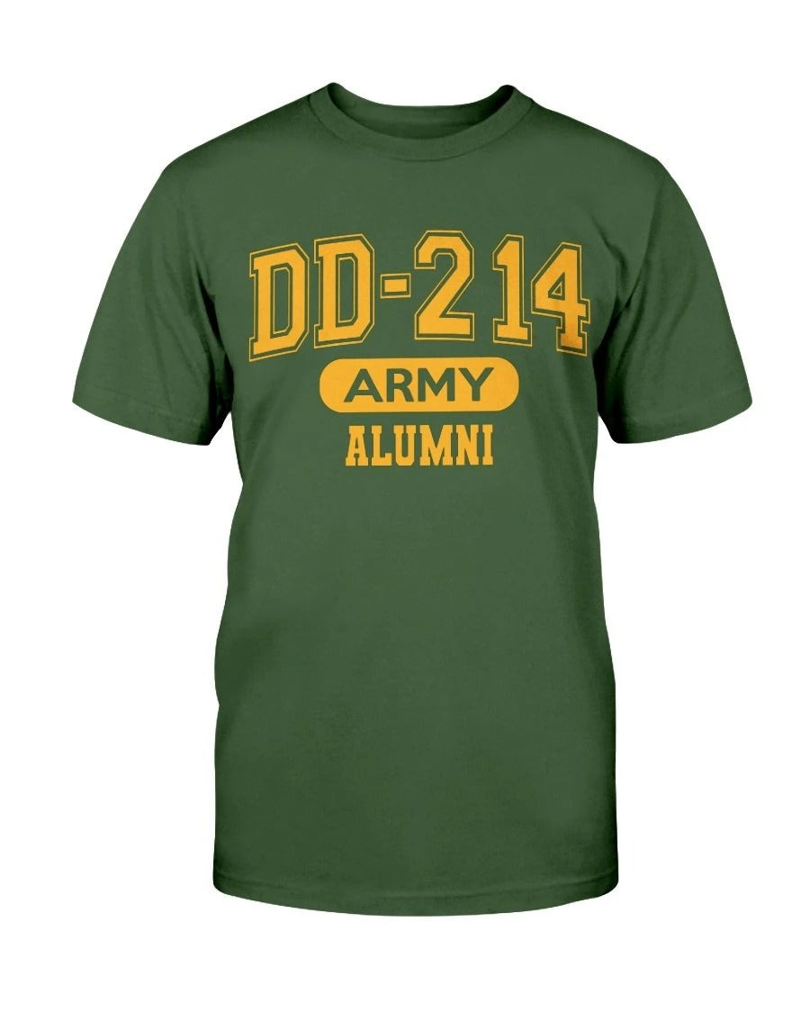 DD-214 Army Alumni, US Army Veterans T-Shirt