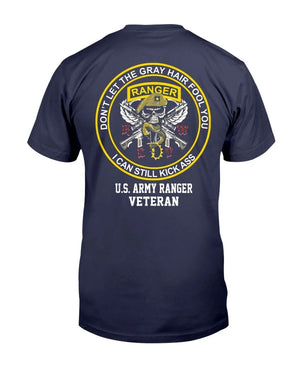 Old Retired US Army Ranger Veteran Gift For US Veteran Army T-Shirt