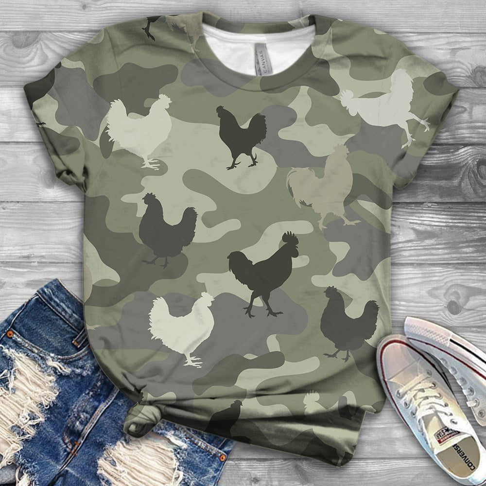 Chicken Over Full All-Over T-Shirt