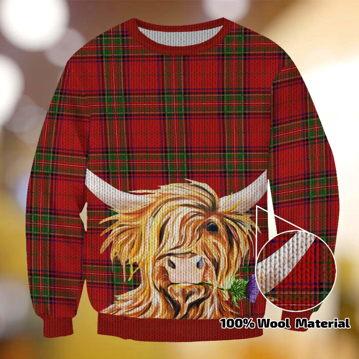 COW BEAUTY CHRISTMAS PATTERN TH01 SWEATER
