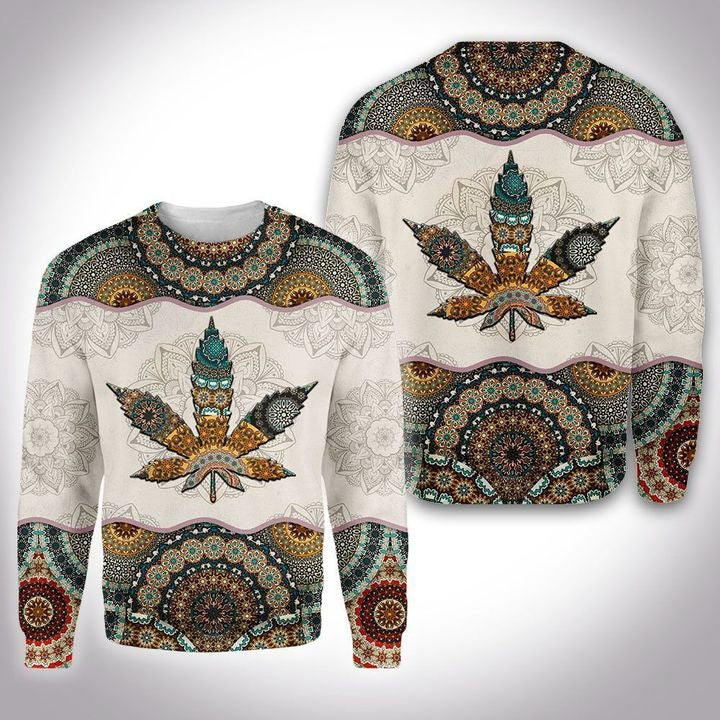 CANABIS MANDALA 3D ALL OVER PRINTED SHIRT
