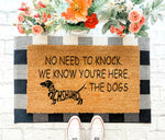 No need to knock - Dachshund Doormat 04