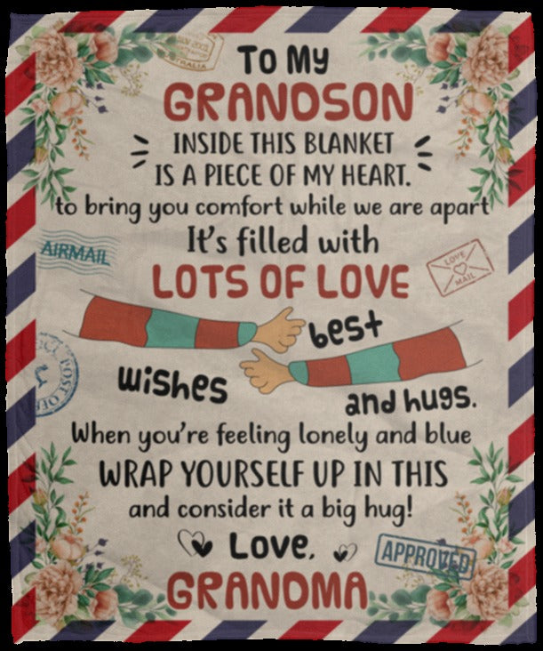 To My Grandson Blanket