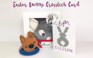 Cross Stitch Bunny Easter Cards To Make Yourself