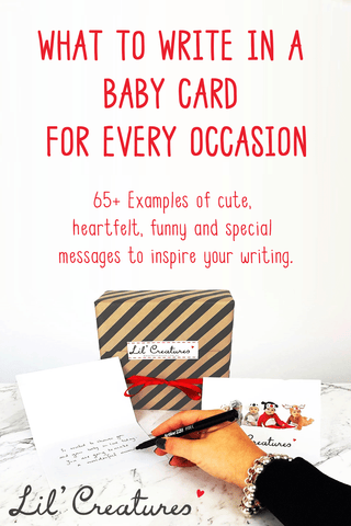 Message for new baby card