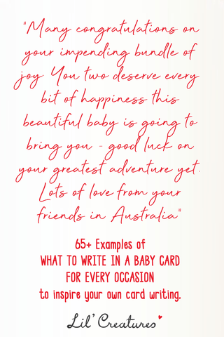 What to write on a baby card