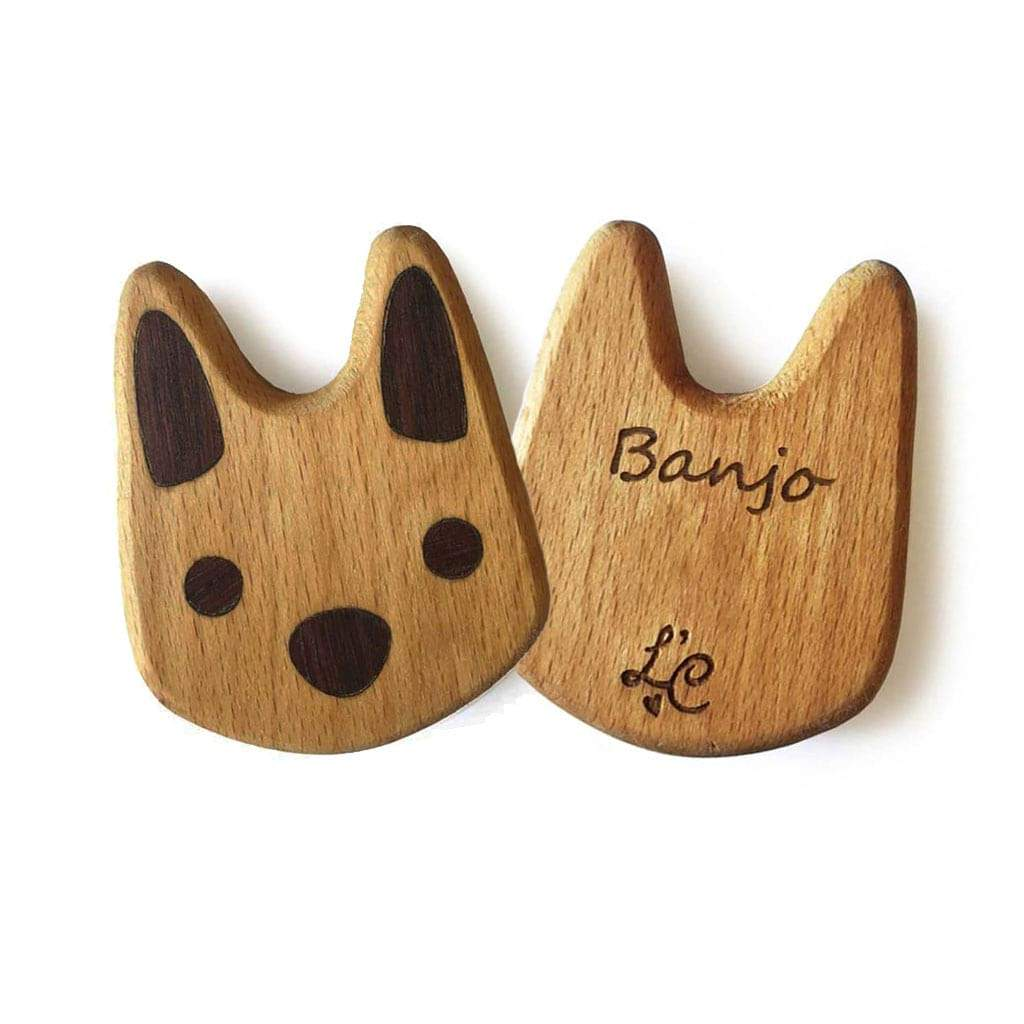 Personalised Wooden Baby Rattle