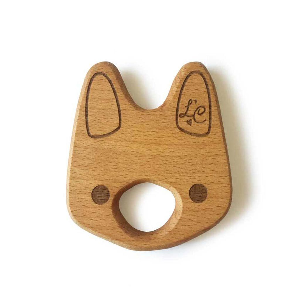 Lil' Bunny Natural Wooden Teether Toy