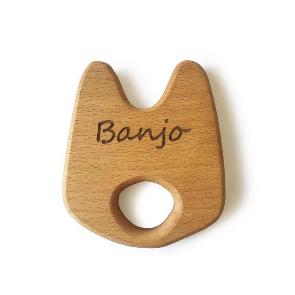 Personalised Bunny Wooden Baby Toy