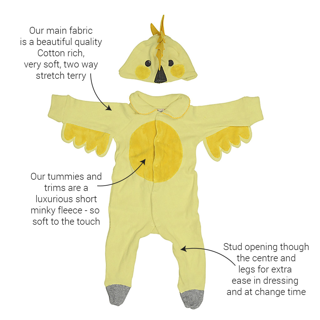 Baby Chicken Costume with Wings