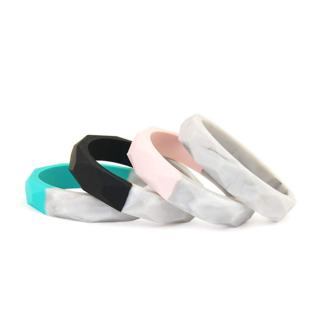 Fashionable Silicone Teether Bangles