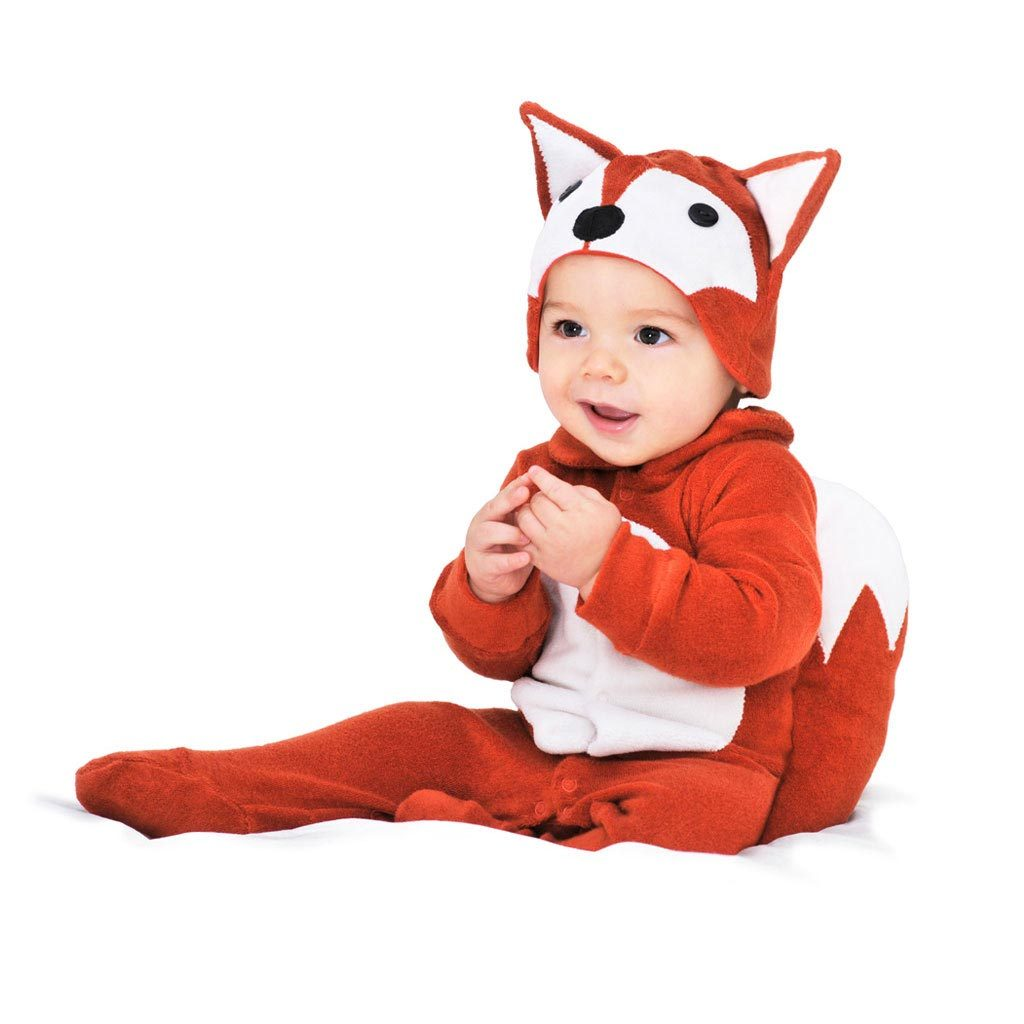 Fox Baby Romper with Fox Hat