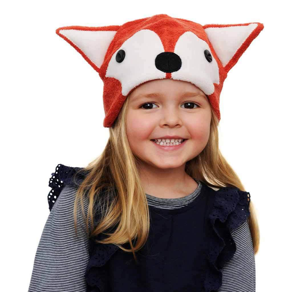 Clip On Fox Tail with Fox Hat Beanie