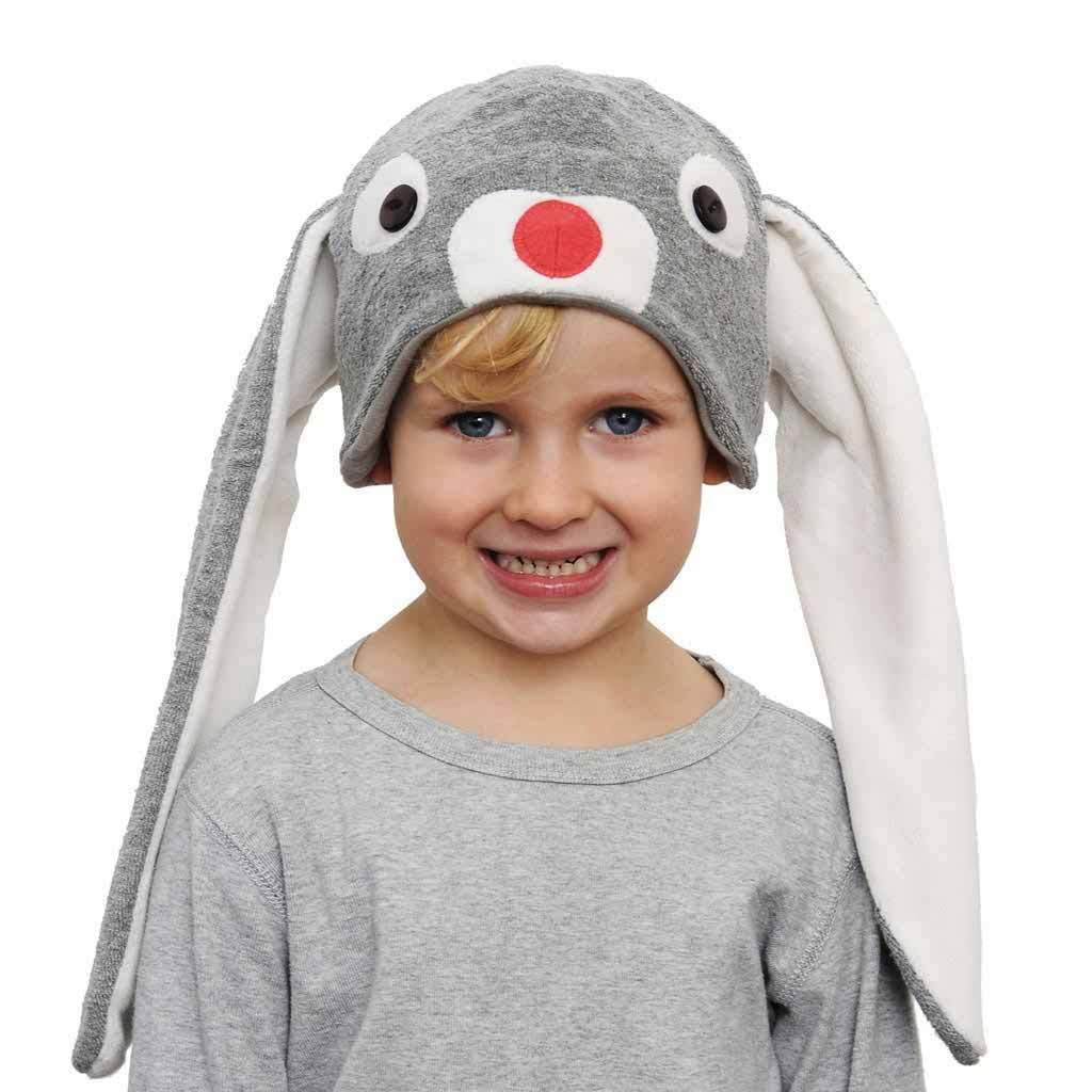 Cute Grey Bunny Hat with Long Ears