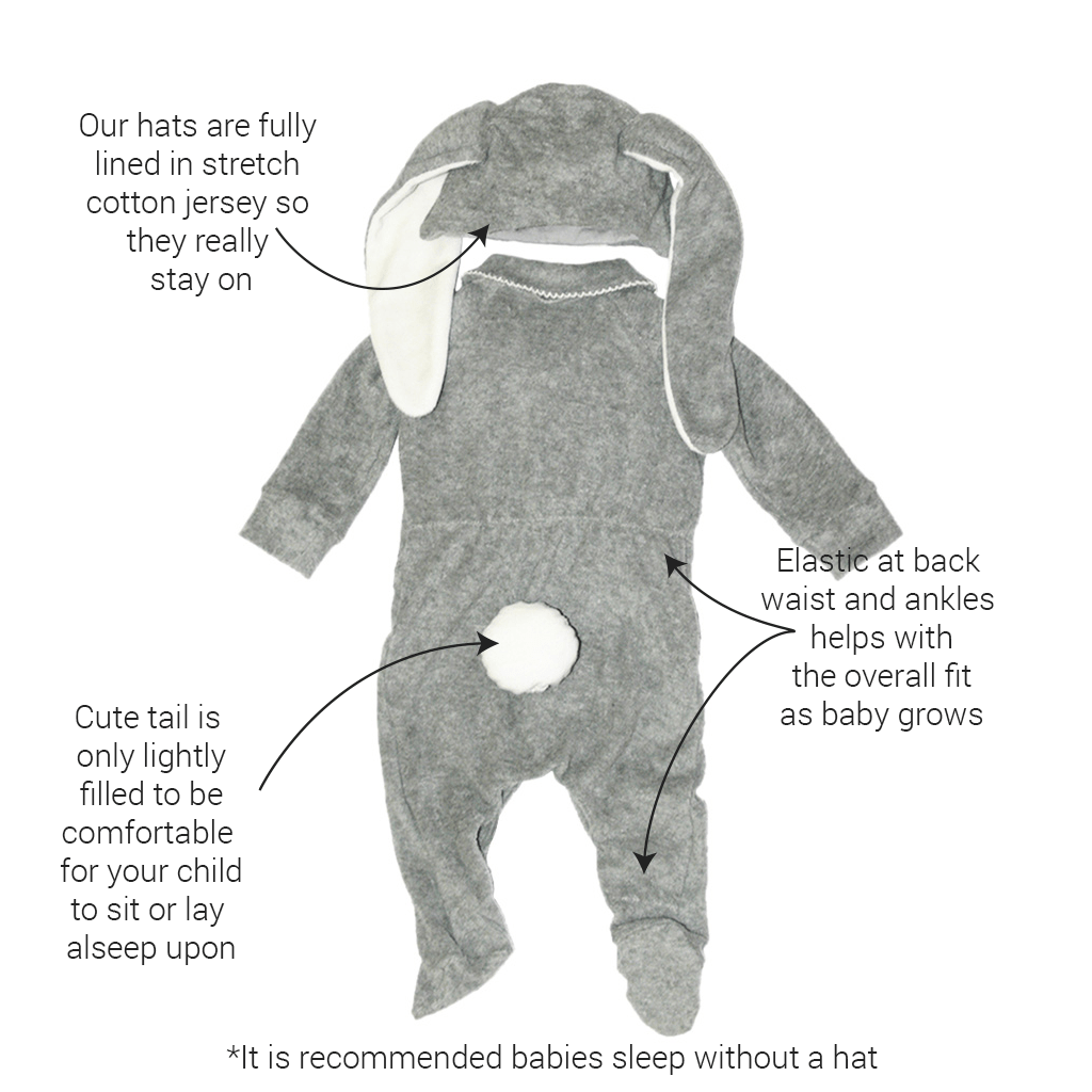 Lil' Grey Easter Bunny Costume for Baby