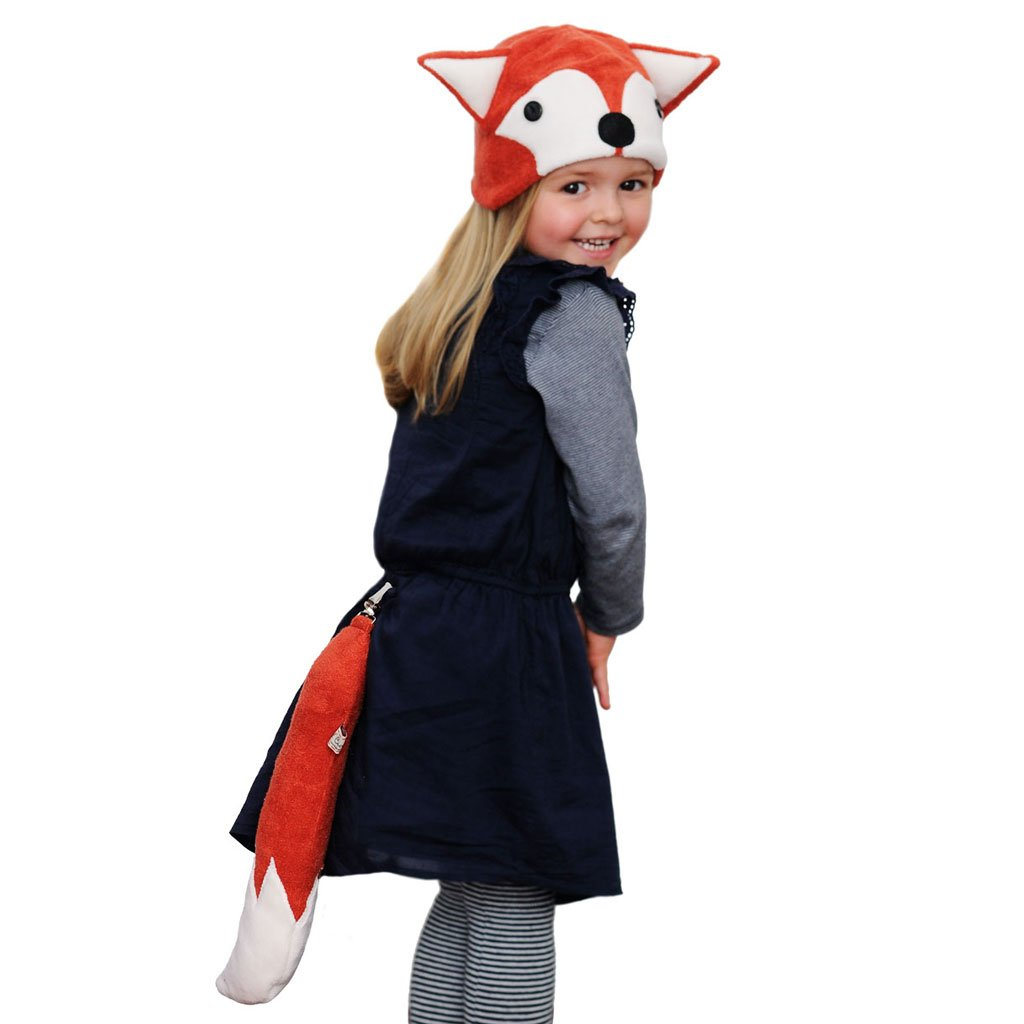 Adult Size Fox Hat and Fox Tail Set