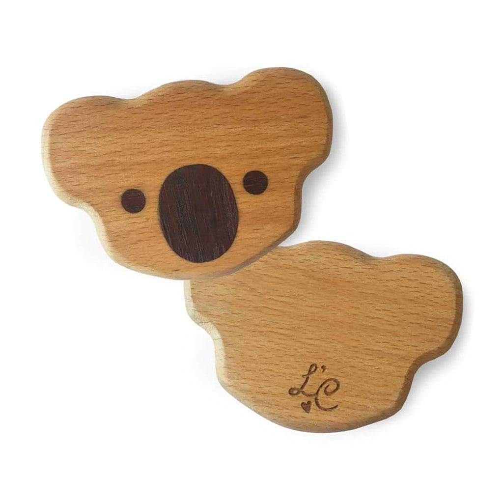 Organic Wooden Baby Toy Rattle Koala