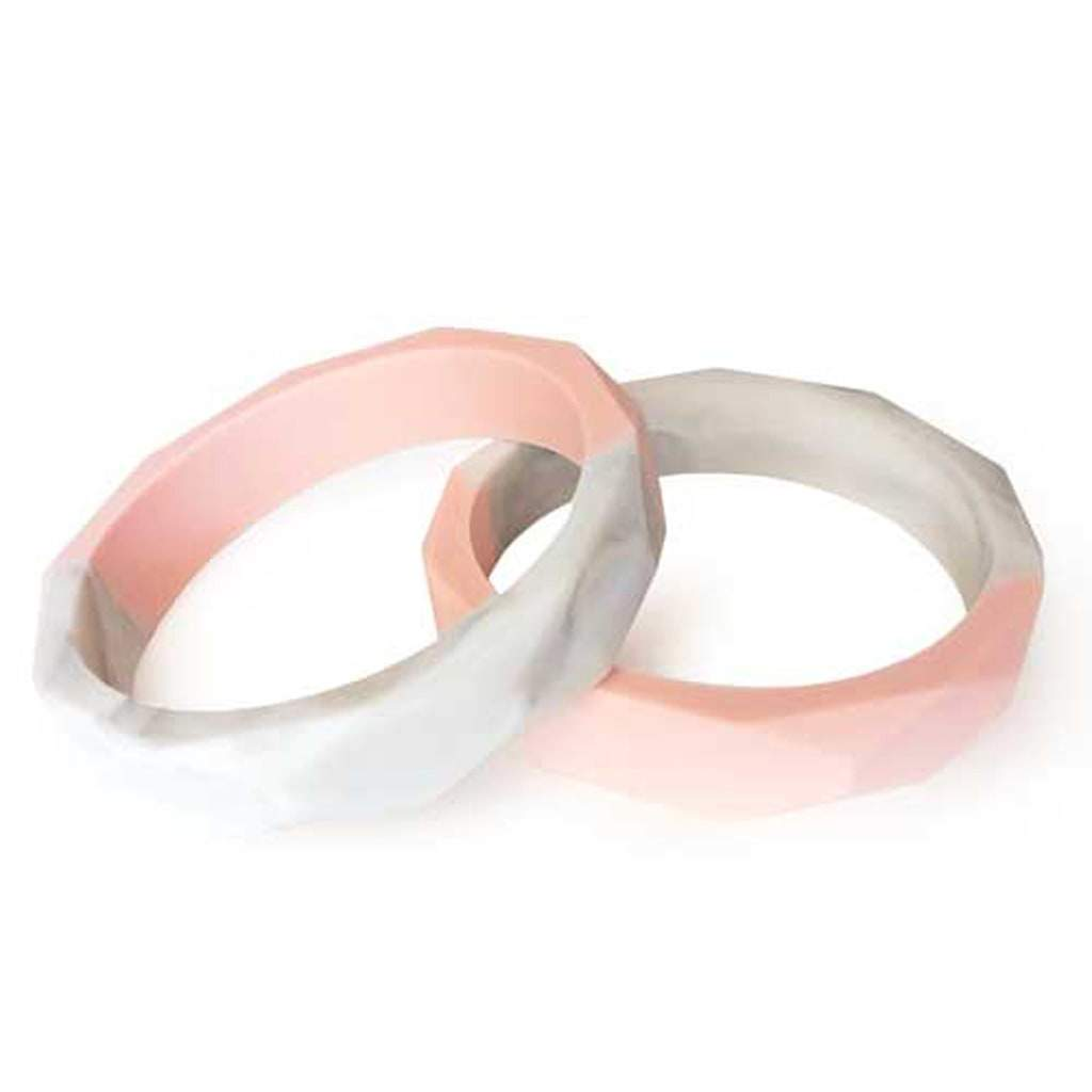 Marble Duo Geo Silicone Teething Bangle