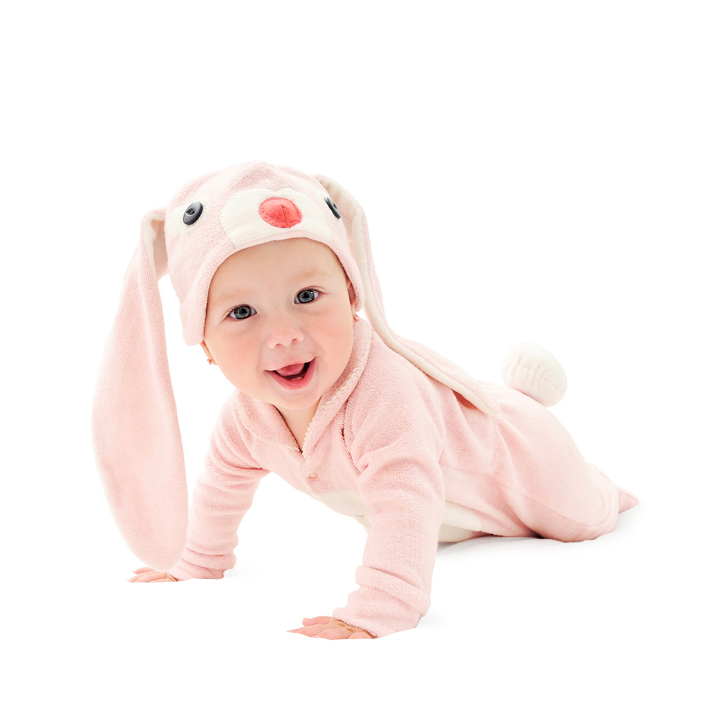 Pink Bunny Cotton Baby Costume