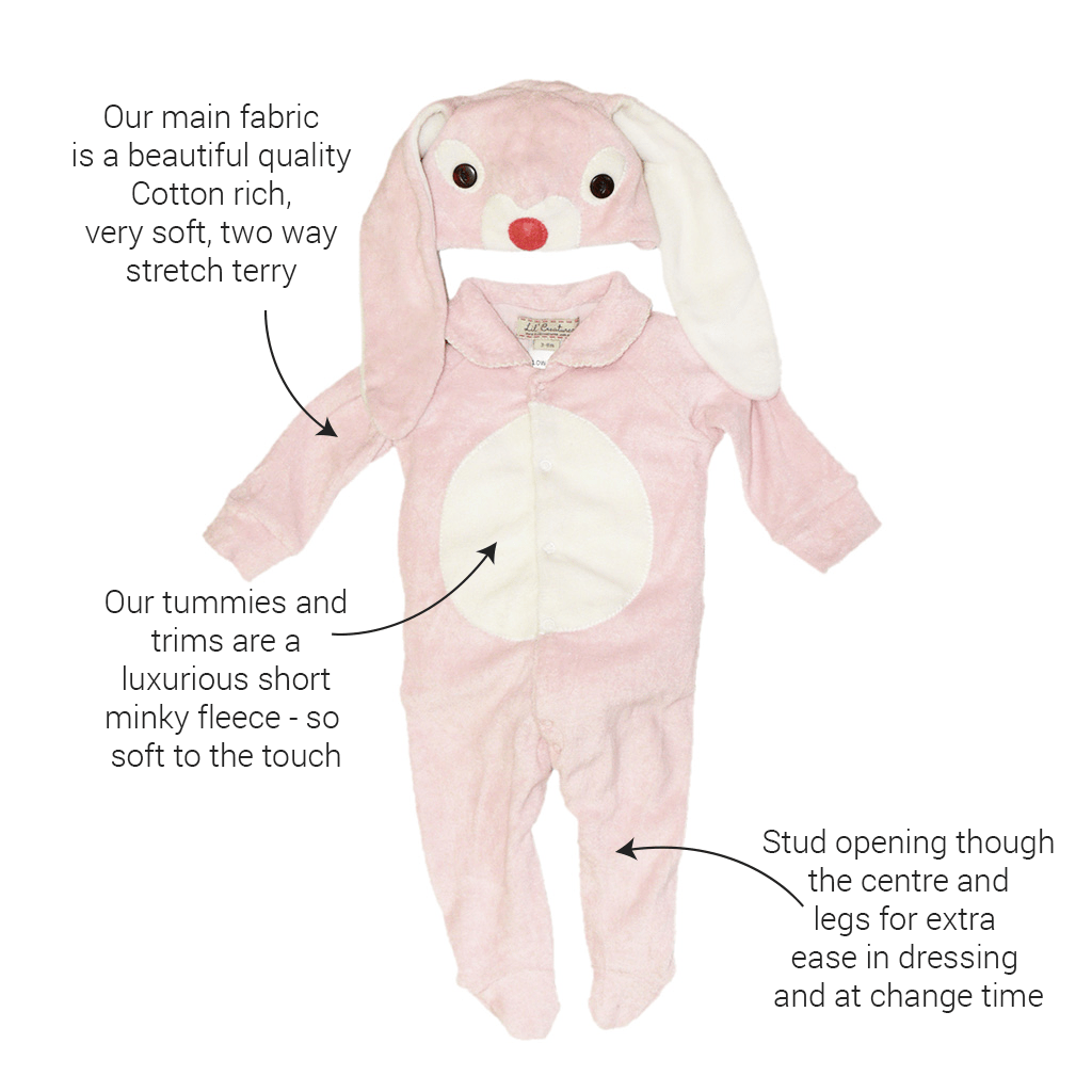 Lil' Pink Bunny Costume Baby Outfit