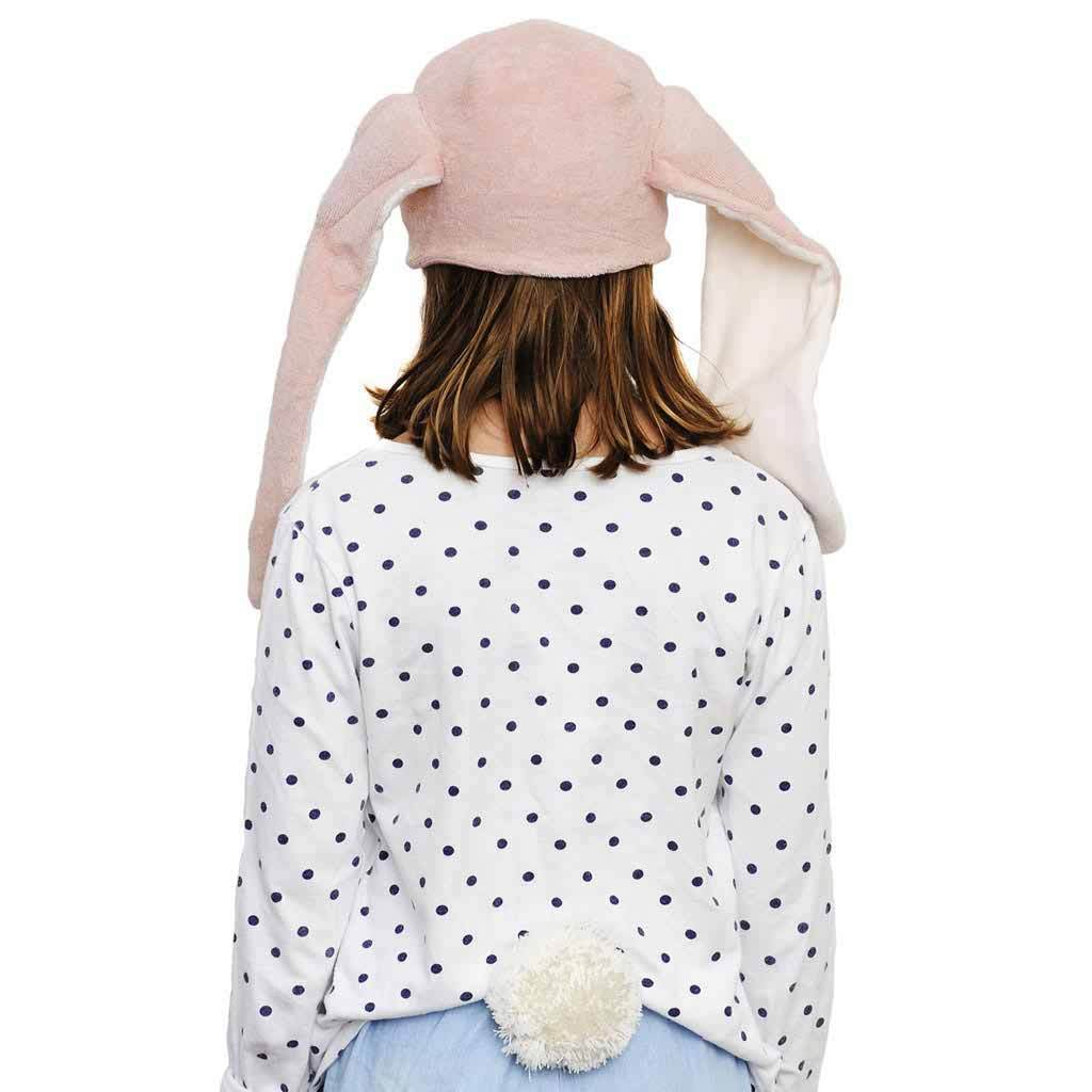 Cute Cotton Bunny Hat Ears Pink