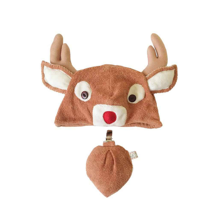 Lil' Red-nosed Christmas Reindeer Hat & Tail Set ON SALE