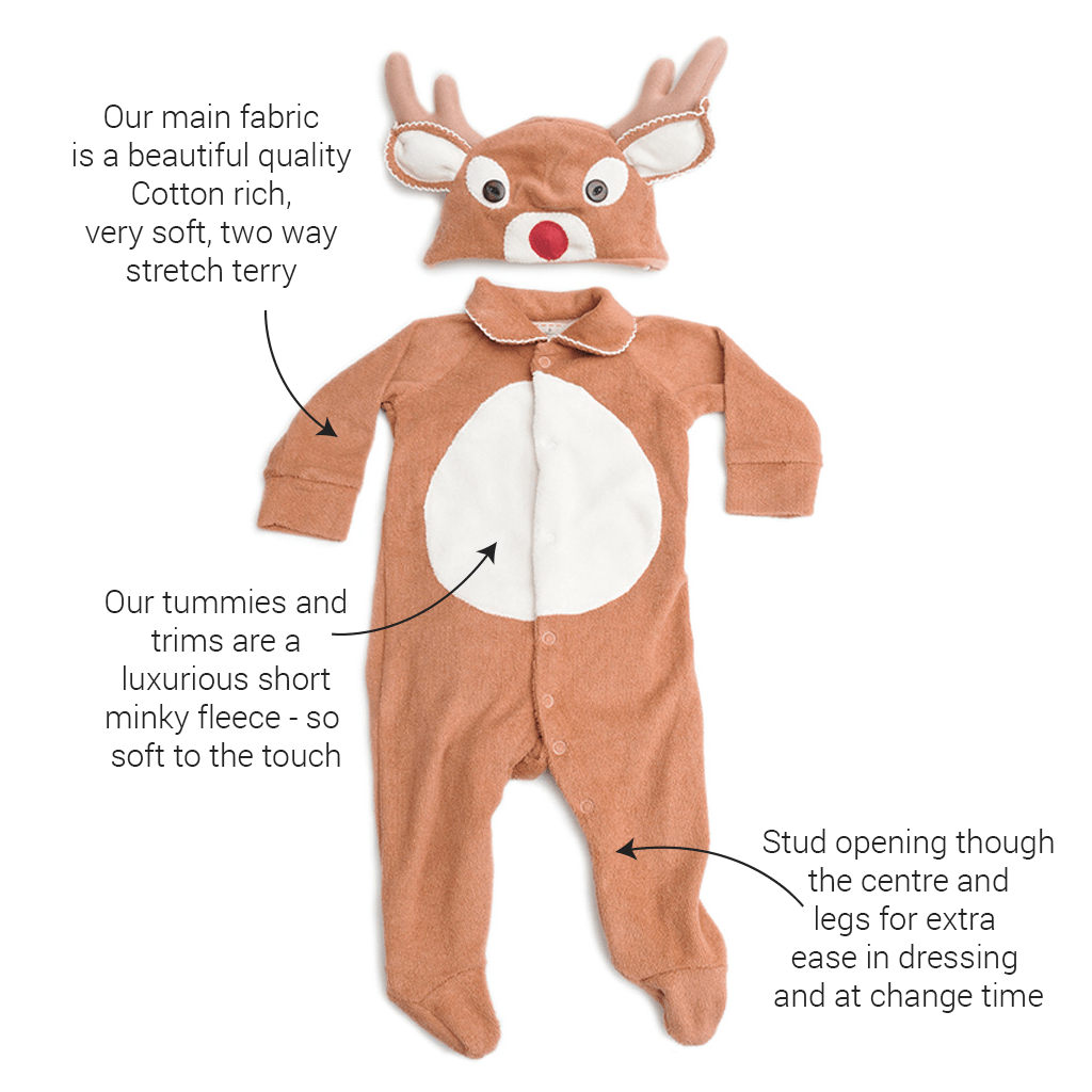 Lil' Reindeer Baby Christmas Outfit