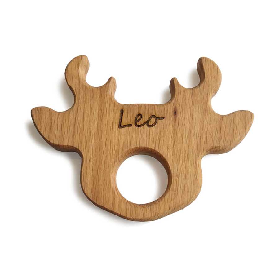 Lil' Reindeer Natural Wooden Teether Toy