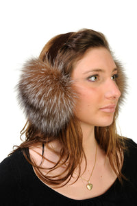 GENUINE CRYSTAL FOX FUR EARMUFF