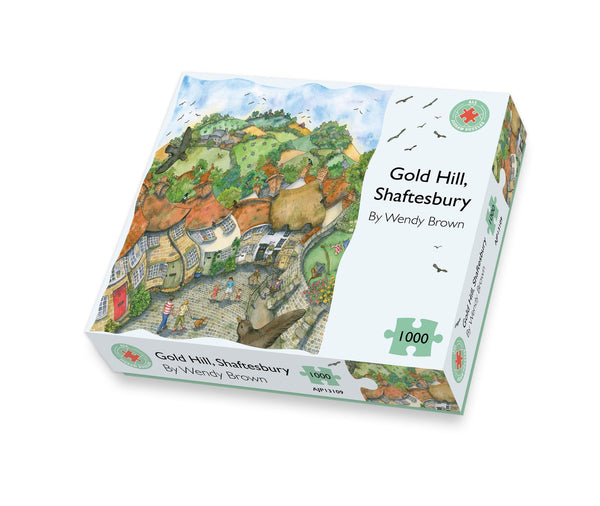 Gold Hill Shaftesbury 500 or 1000 Piece Jigsaw Puzzle box