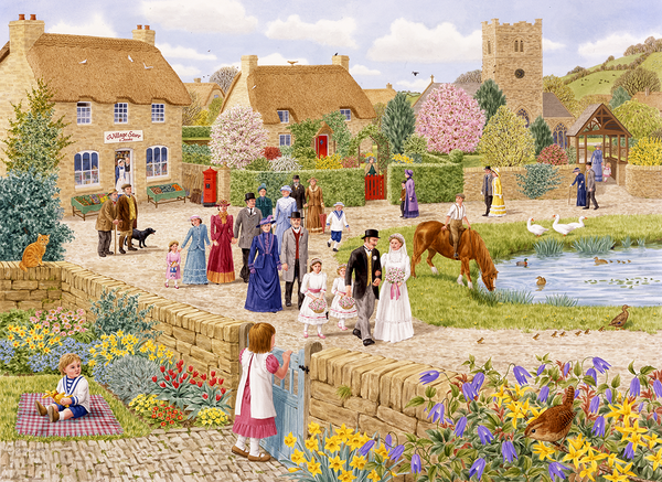 Village Wedding - Sarah Adams 1000 or 500XL Piece Jigsaw Puzzle