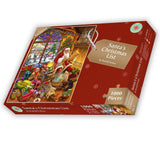 Santa's Christmas List 1000 or 500XL Piece Jigsaw Puzzle By Rudolf Farkas
